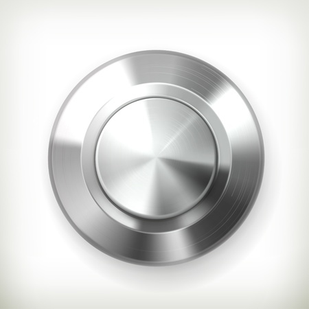 Metal button Stock Vector - 14277377
