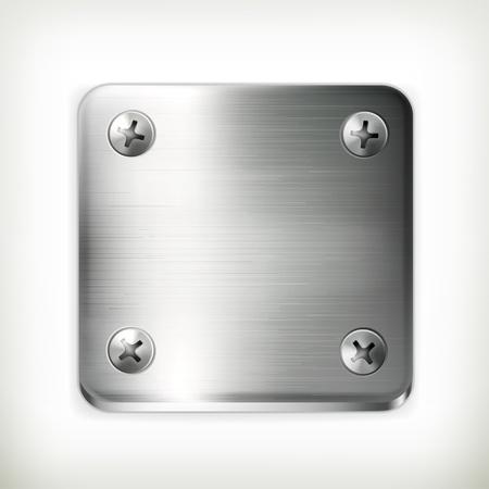 hard cap: Metal plate with screws