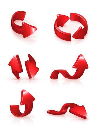 3d cursor: Red arrows set