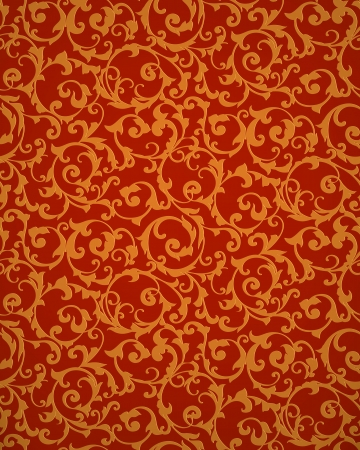 floral carpet: Red seamless pattern
