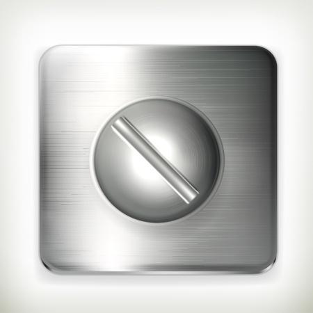 herramientas de construccion: Tornillo, icono