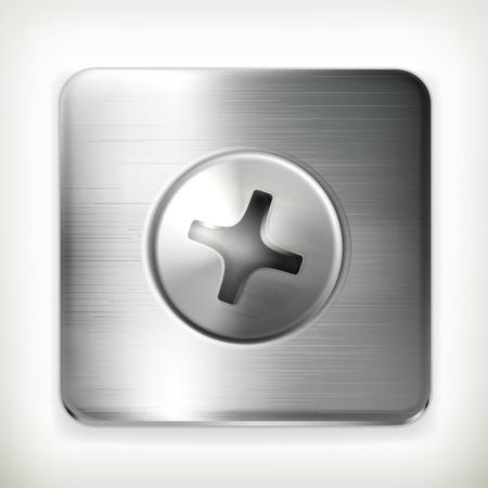 Screw, icon Stock Vector - 14277445
