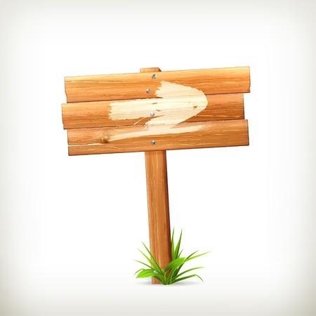 Wooden sign Vector