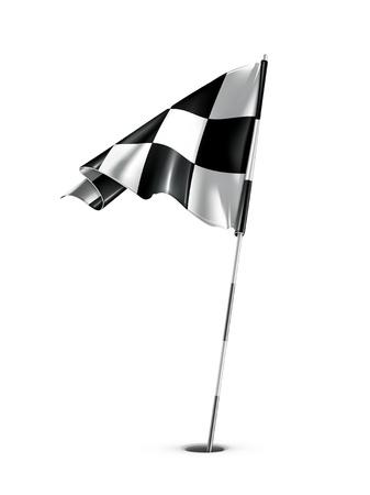Checkered golf flag Vector