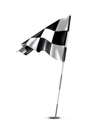 checker flag: Checkered golf flag Illustration