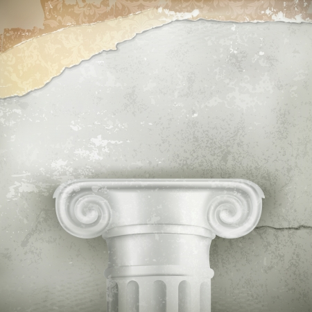 Column, vintage background Vector