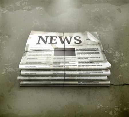 vintage newspaper: Newspsper, old-style