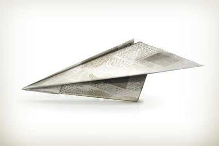aereo icona: Aereo di carta Vettoriali
