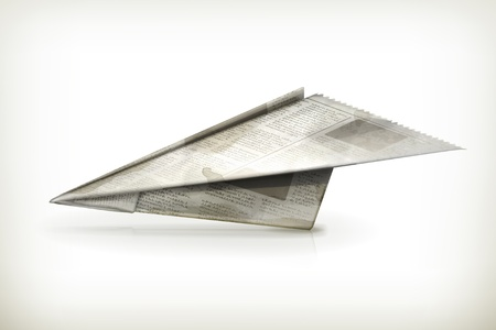 folded newspaper: Paper plane