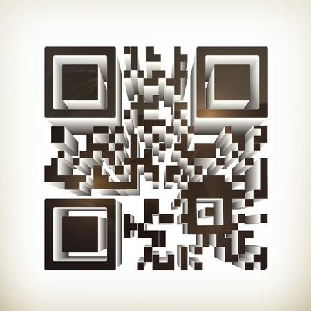 bar code: QR code Illustration