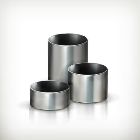 metalworking: Steel pipes Illustration