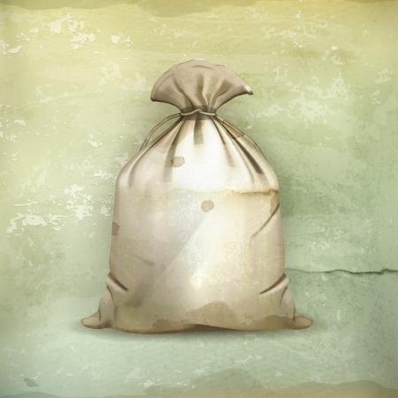 Bolsa, al viejo estilo Ilustración de vector