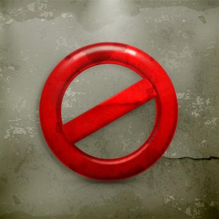 cruz roja: No señal de advertencia al viejo estilo Vectores