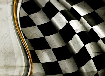 Checkered Background, old-style  Vector