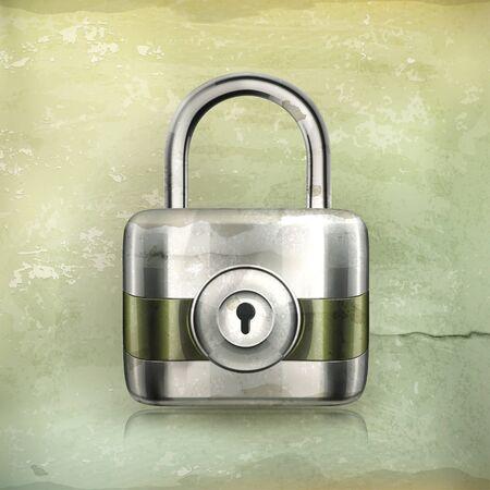 iron defense: Lock, old-style