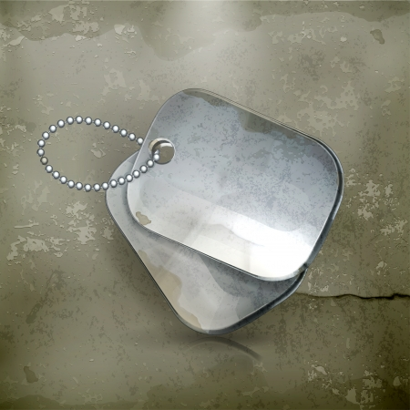 Military dog tags, old-style Vector