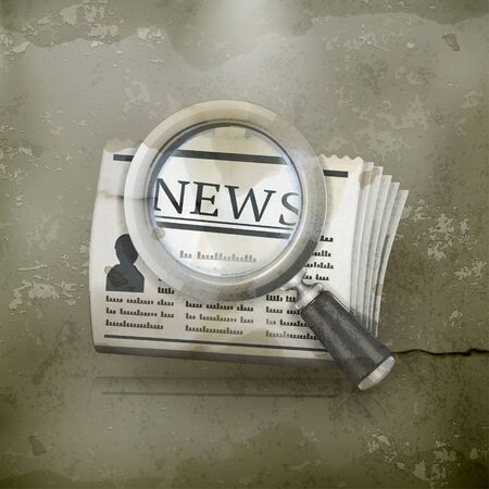 News Search, old-style Stock Vector - 14671617