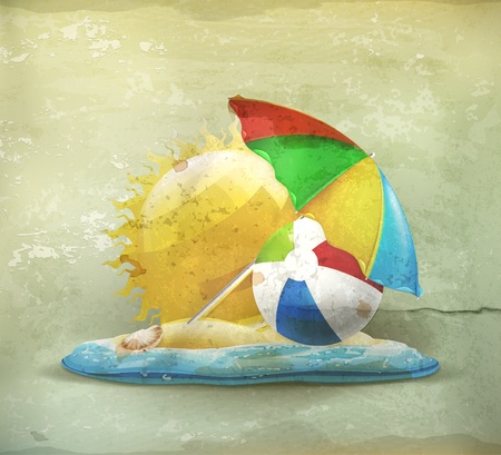activity icon: Summer, old-style