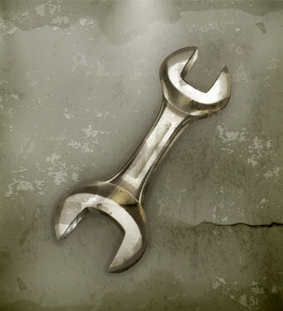 Wrench, old-style icon Stock Vector - 14671614