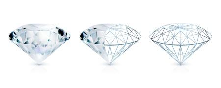 diamond jewelry: Diamante Vettoriali