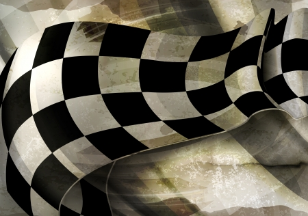 Background Horizontal Checkered, old-style