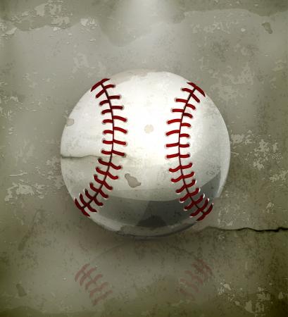 Baseball, old-style Vector