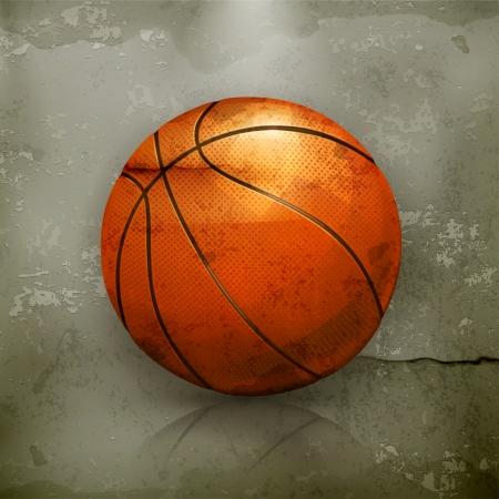 canestro basket: Basket, vecchio stile Vettoriali