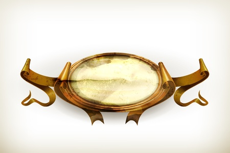 Gold Vintage frame, old-style Stock Vector - 15007337