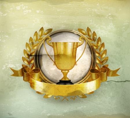 trofeo: Emblema de oro de estilo antiguo