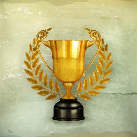trophy award: Oro trofeo, al viejo estilo