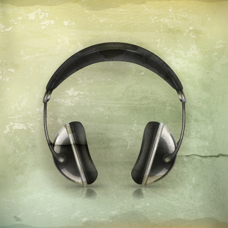 head phones: Head phones, old-style
