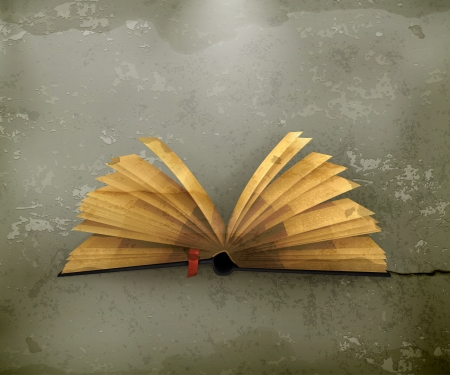 an open book: Libro abierto, de estilo antiguo