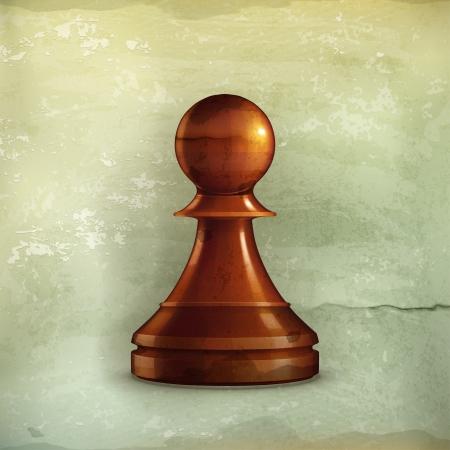 Pawn, old-style Illustration