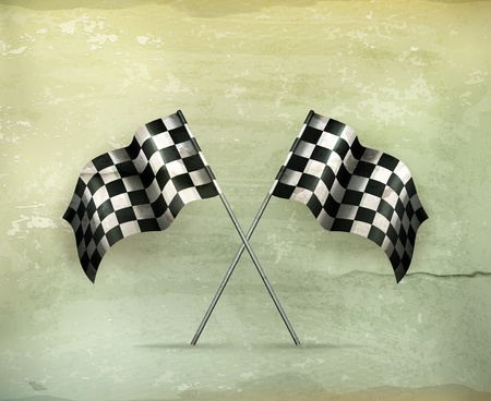 Racing flags, old-style Vector