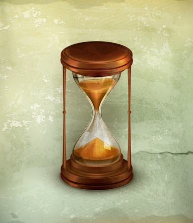 sand timer: Sand glass, old-style Illustration