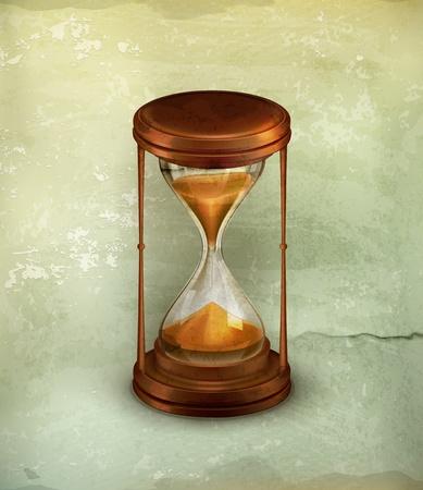 reloj de arena: Vidrio de la arena, de estilo antiguo
