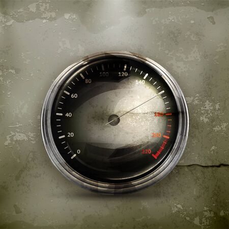 Speedometer, old-style Stock Vector - 15013026