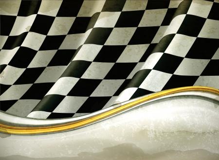 bandera carrera: Vector Checkered Background, al viejo estilo Vectores