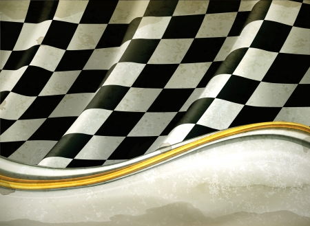 checker flag: Vector Checkered Background, old-style