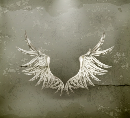 artificial wing: Ali bianche, in stile antico