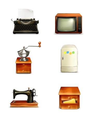 typewriting machine: Retro icon set