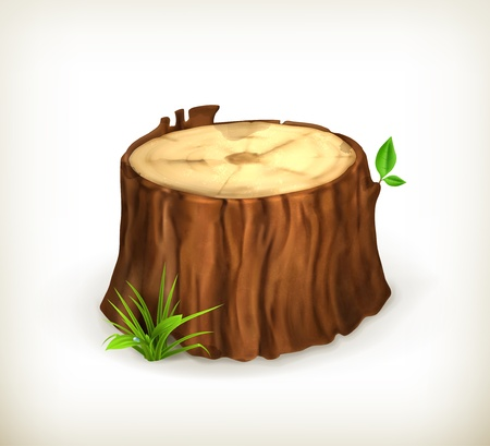 Tree stump Stock Vector - 15083584