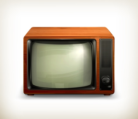 tv retro: TV set retro Illustration