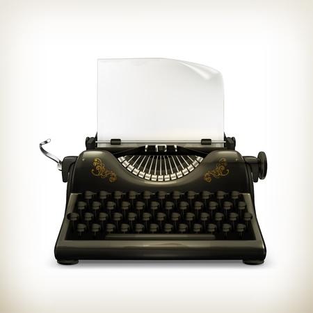 Máquina de escribir Ilustración de vector