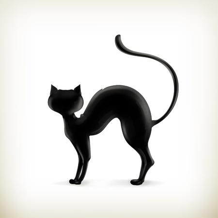 gato negro: Cat silueta