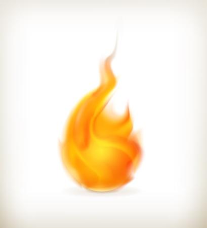 Flame, icon Stock Vector - 15538735