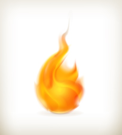 fire element: Flame, icon Illustration