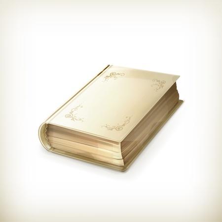 portadas de libros: Libro antiguo, icono Vectores