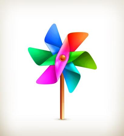 Pinwheel toy multicolor