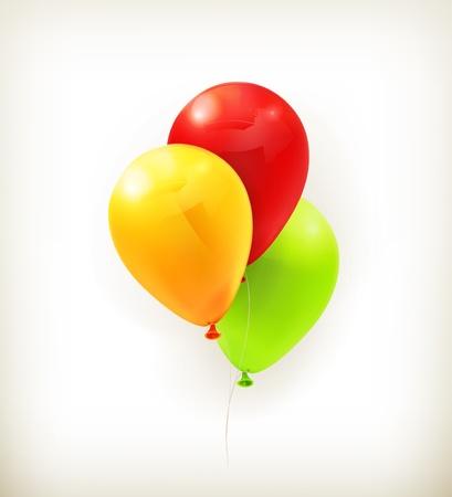 globos de cumpleaños: Globos de juguete Vectores